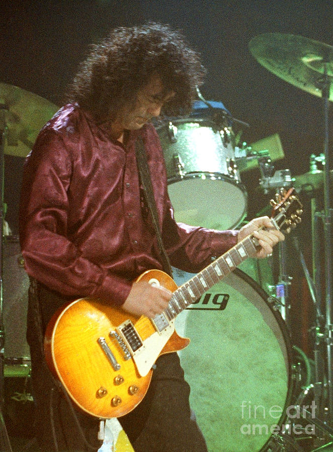 Robert Plant Photograph - Jimmy Page-0002 by Timothy Bischoff