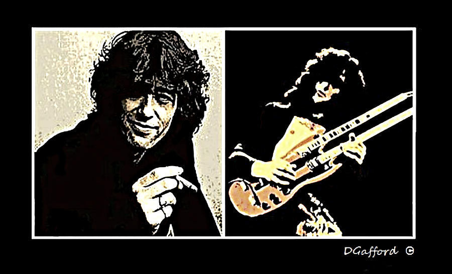 Jimmy Page Painting by Dave Gafford