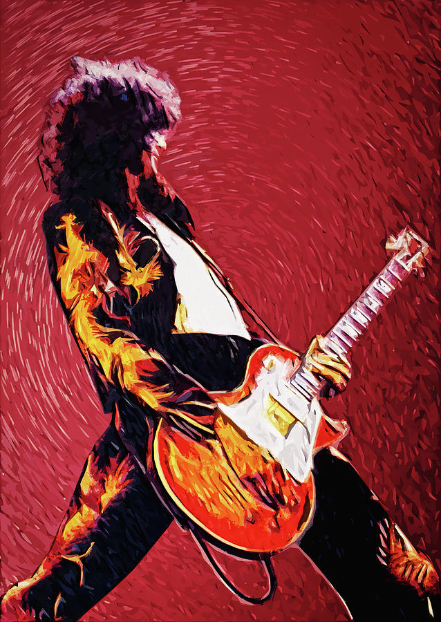 Led Zeppelin Digital Art - Jimmy Page  by Zapista Zapista