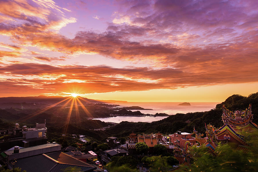 Jiufen Sunset by Geoffrey Lewis