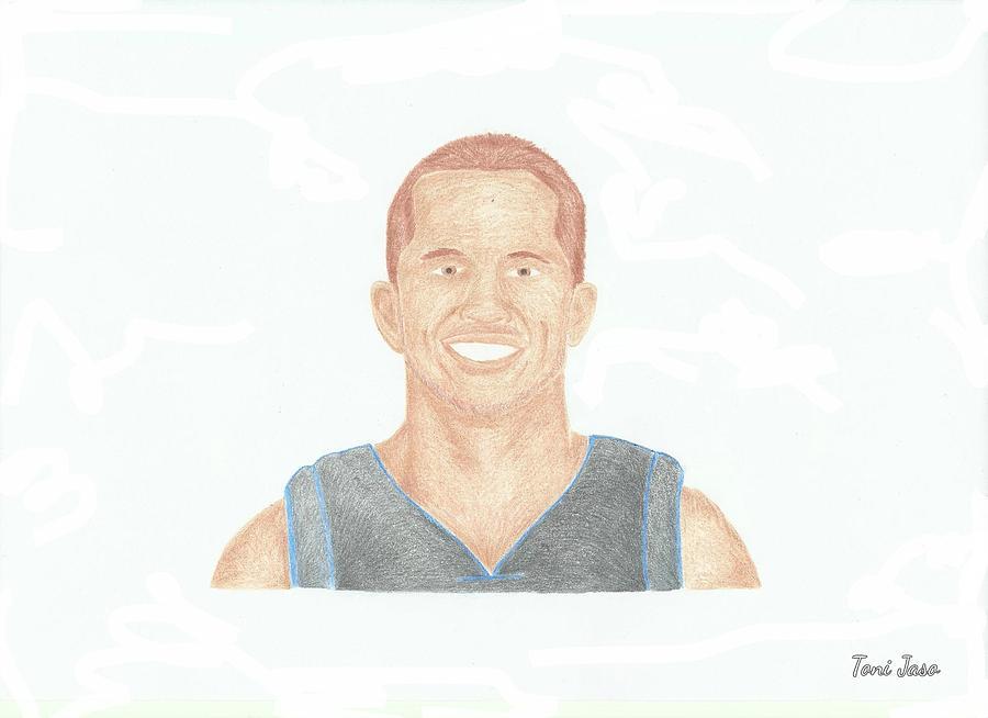 Basketball Drawing - Jj Barea  by Toni Jaso