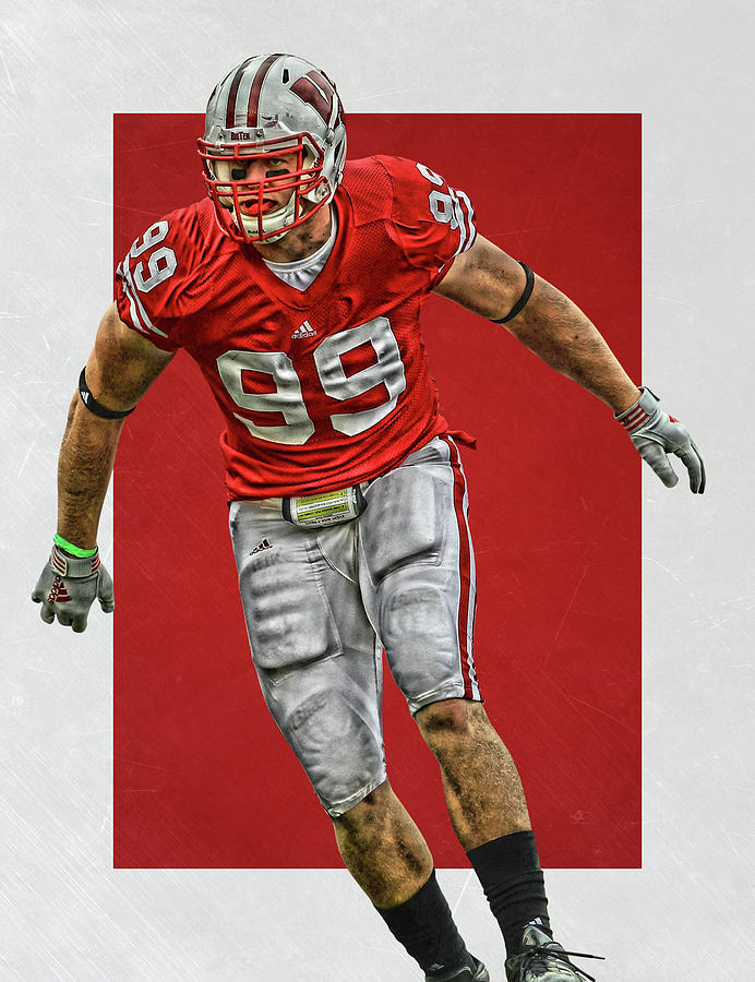 buy popular cfeb3 fcdad Jj Watt Wisconsin Badgers Art