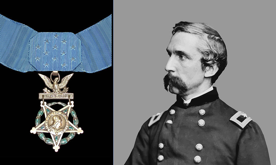 General Chamberlain Painting - J.l. Chamberlain And The Medal Of Honor by War Is Hell Store