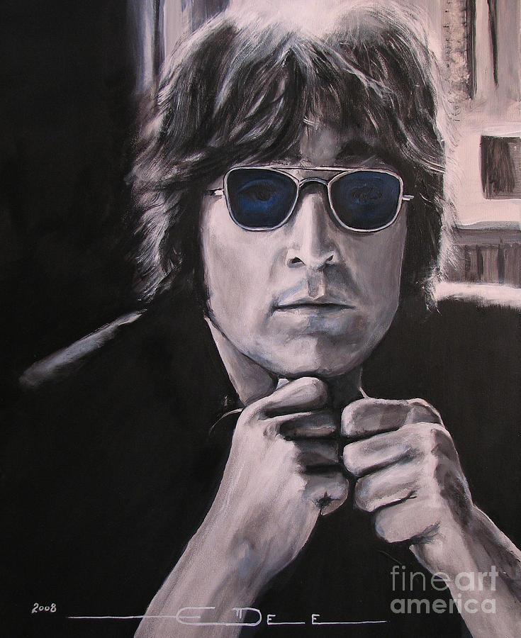 John Lennon Painting - JL1 by Eric Dee