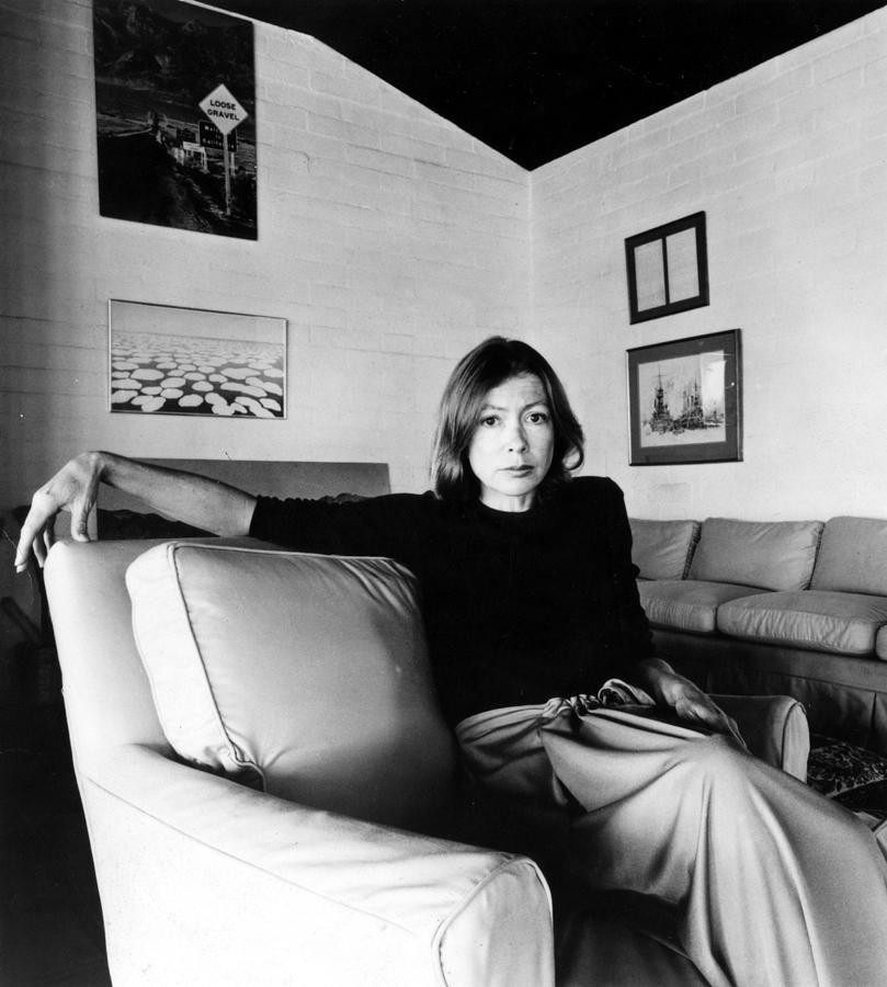 Chair Photograph - Joan Didion, Circa 1977 by Everett