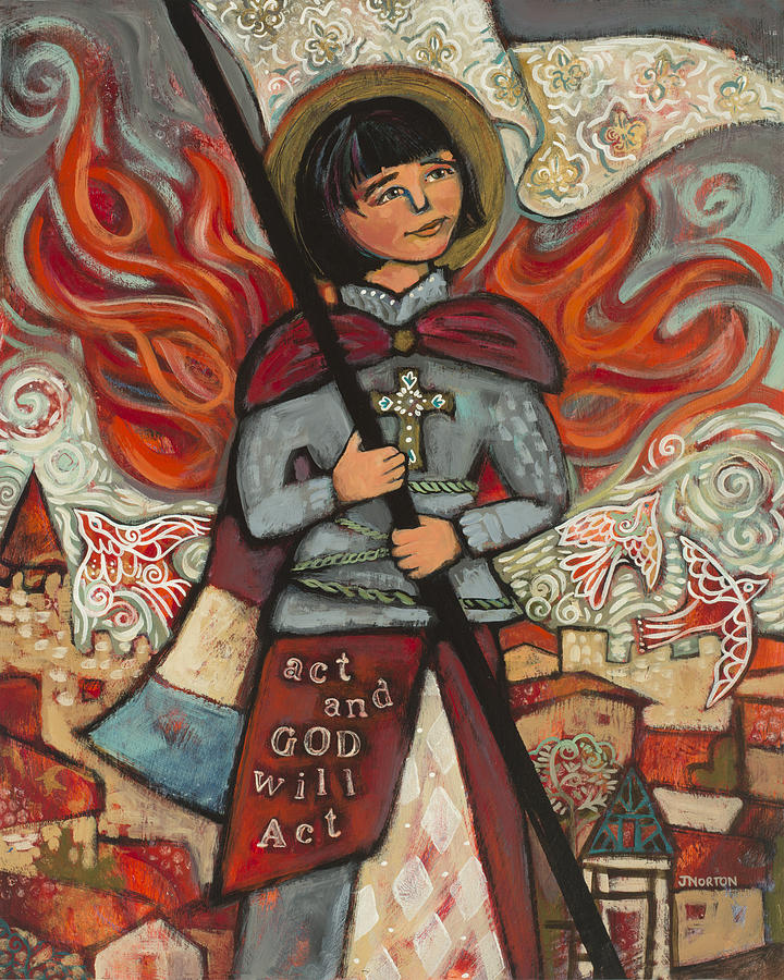 Joan Of Arc Painting by Jen Norton