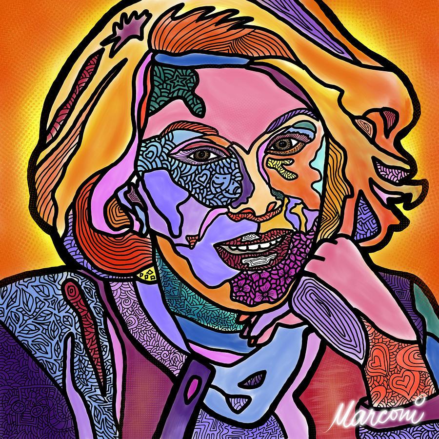 Joan Rivers Digital Art - Joan Rivers Never a Fashole by Marconi Calindas