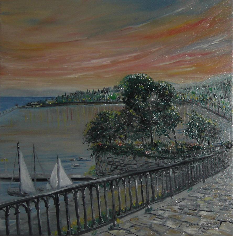 Sea Painting - Joannas Garitsa Bay by Anna Witkowska
