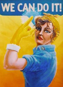 Determination Painting - Joannie The Riveting by Cyndi Bellerose-McAfee