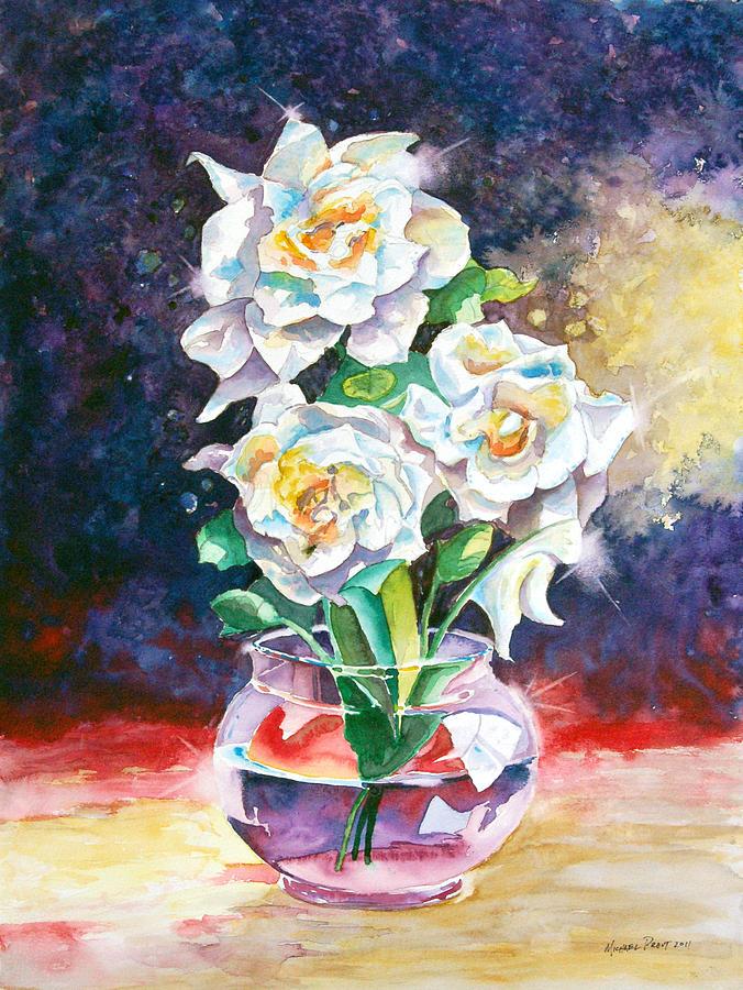 Gardenia Painting - Joans Gardenias by Michael Prout