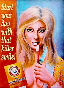 Toothbrush Painting - Joans Killer Smile by Cyndi Bellerose-McAfee