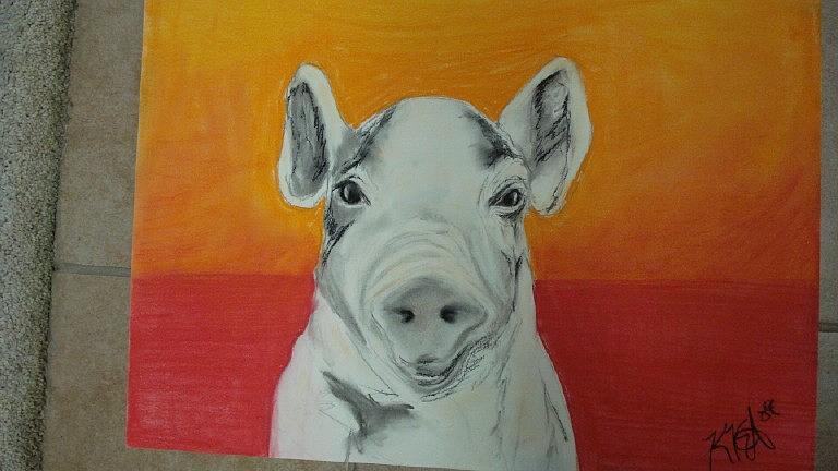 Animal Pastel - Joans Pig by Kate Padberg