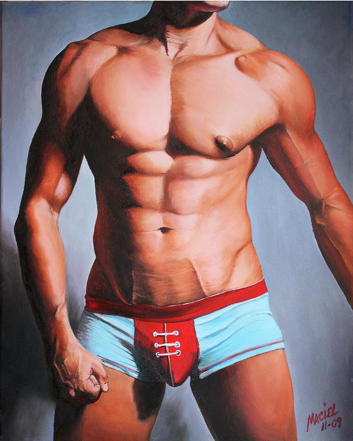 Gay Painting - Jock by Maciel Cantelmo