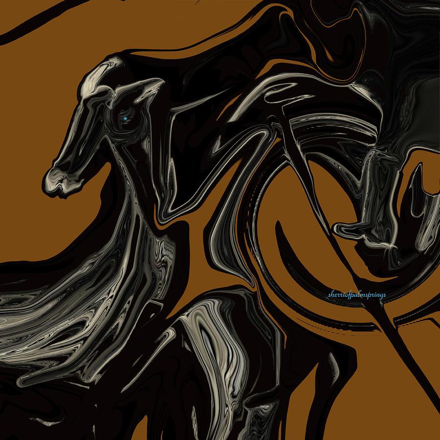 Horse Digital Art - Jockey Made A Boo Boo by Sherris - Of Palm Springs