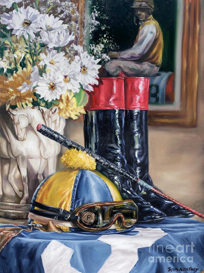 Derby Painting - Jockey Still Life by Thomas Allen Pauly