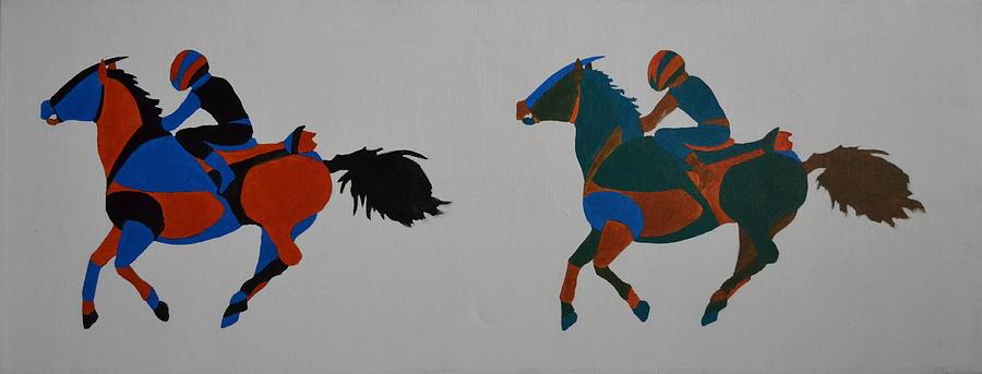 Jockey Painting - Jockey by Vykky Gamble