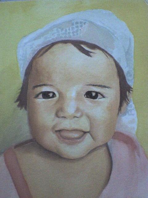 Portrait Painting - Jodi by Binger Apalth