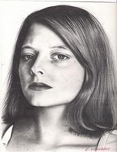 Portraits Drawing - Jody Foster by Cliff Washburn