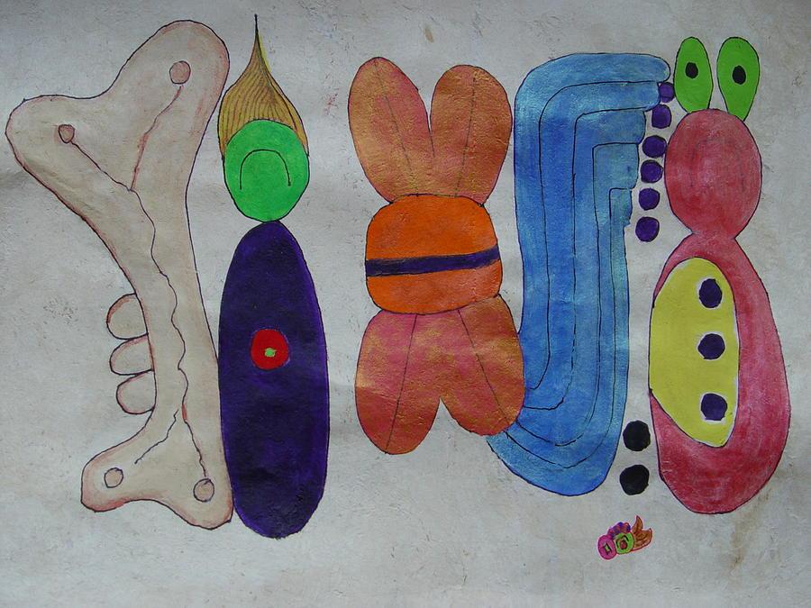 Mayan Painting - Jody Jennings by Francisco Fonseca y Venegas