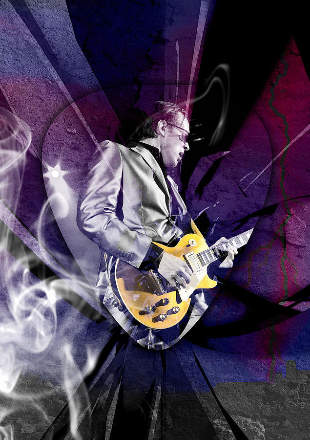 Joe Bonamassa Mixed Media - Joe Bonamassa Art by Marvin Blaine