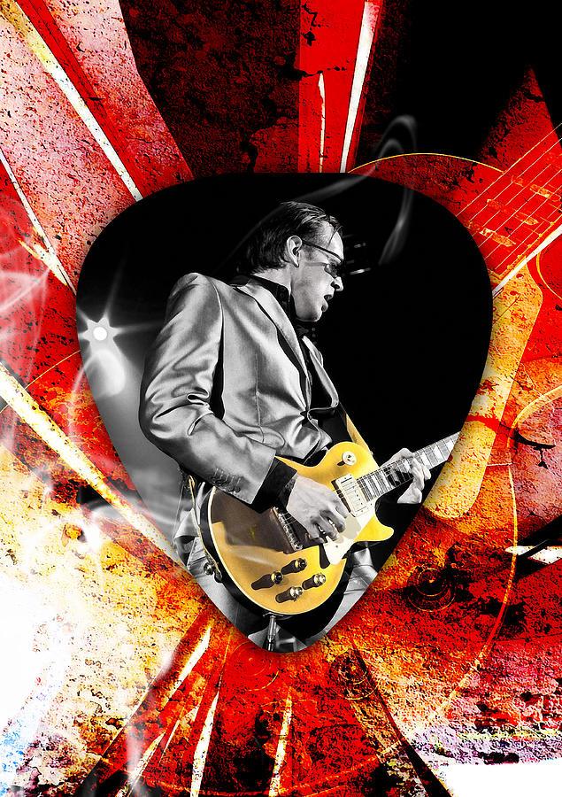 Joe Bonamassa Mixed Media - Joe Bonamassa Blue Guitar Art by Marvin Blaine
