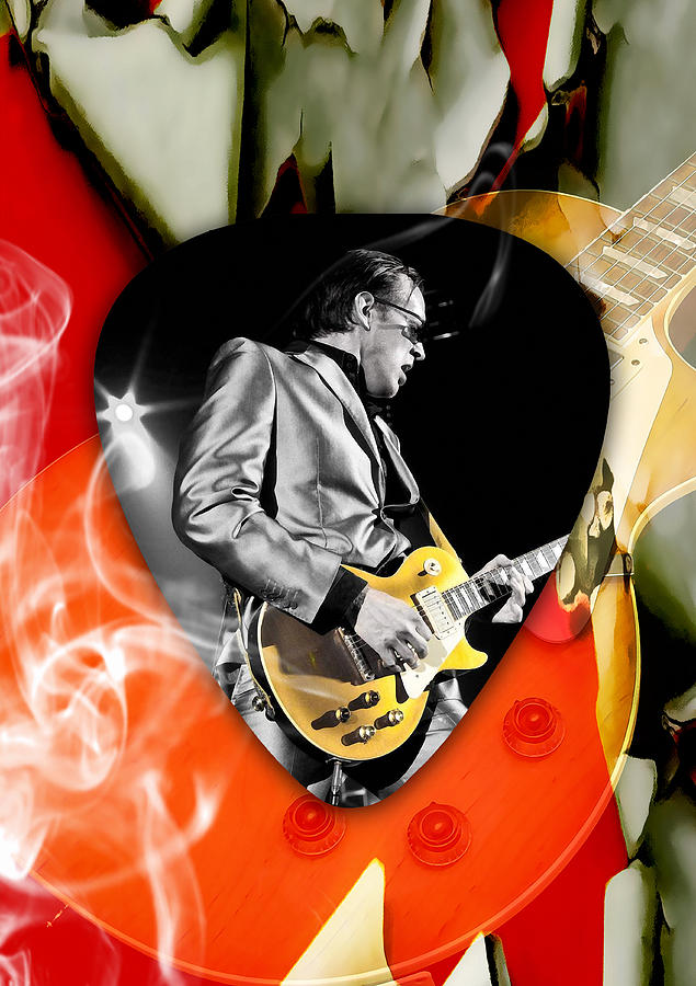 Joe Bonamassa Mixed Media - Joe Bonamassa Blues Guitar Art by Marvin Blaine
