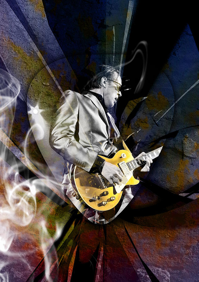 Joe Bonamassa Mixed Media - Joe Bonamassa Blues Guitarist by Marvin Blaine