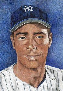 New York Yankees Artwork Painting - Joe Dimaggio by Rob Payne