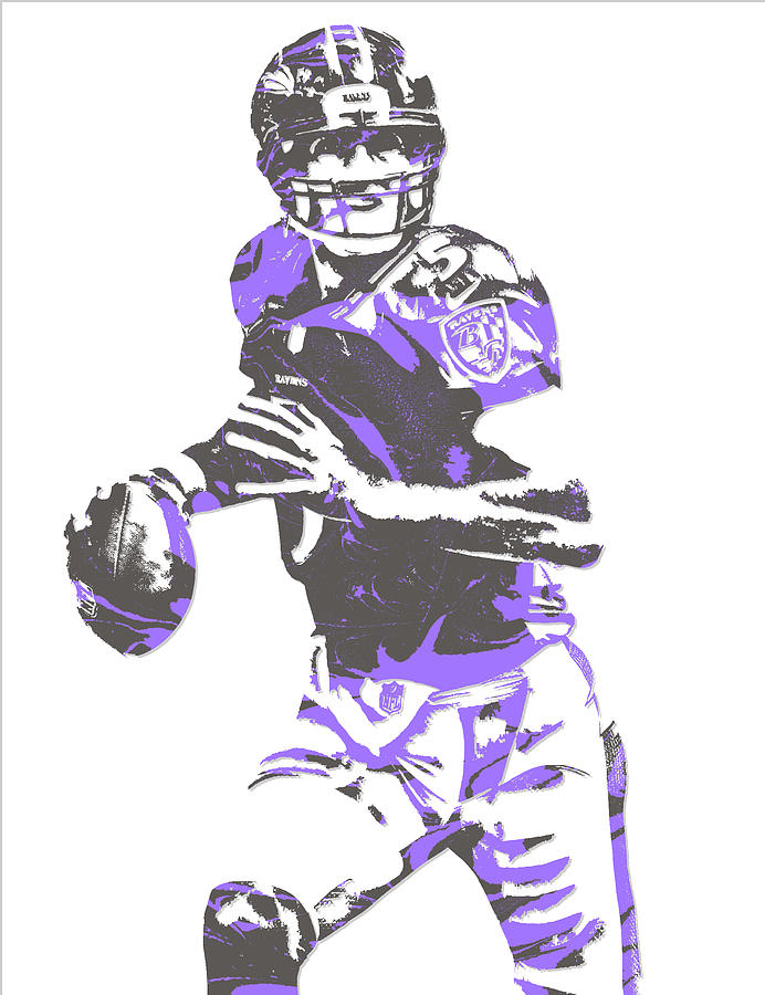 Joe Flacco Baltimore Ravens Pixel Art 7 Mixed Media By Joe