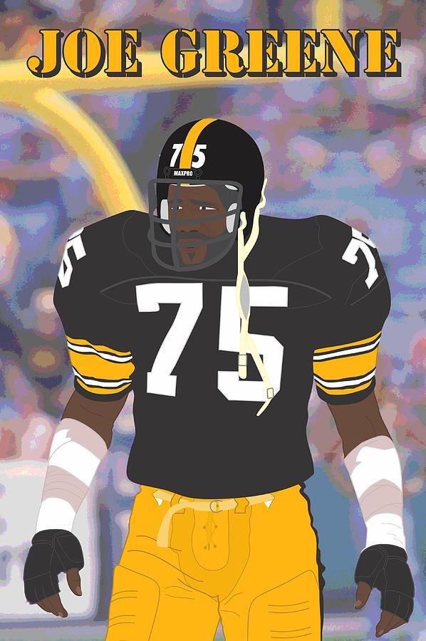 278480ff9 American Football Digital Art - Joe Greene - Pittsburgh Steelers - 1978 by  Troy Arthur Graphics