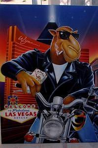 Joe Camel Painting - Joe Harley In Vegas by Terry Lamb