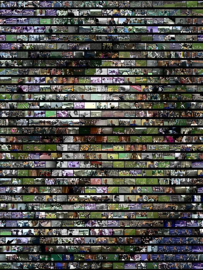 Joe Paterno Digital Art - Joe Paterno Mosaic by Paul Van Scott