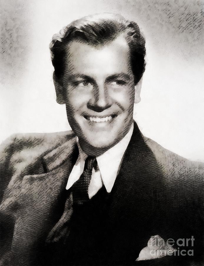 Joel Mccrea, Vintage Actor Painting