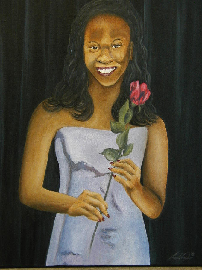 Portrait Painting - Joell by Angelo Thomas