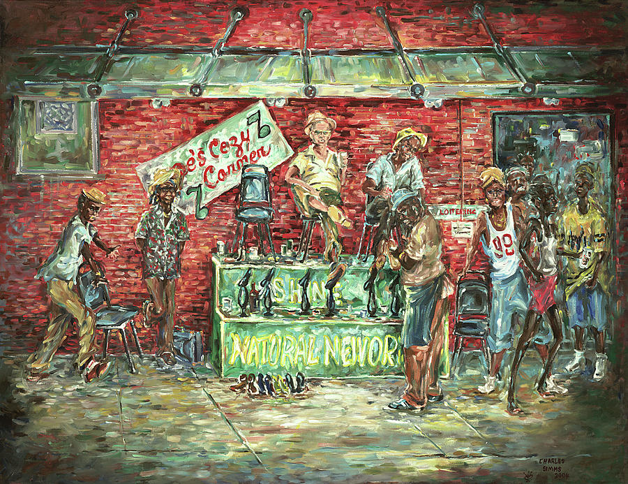 New Orleans Bars Painting - Joes Cozy Corner by Charles Simms