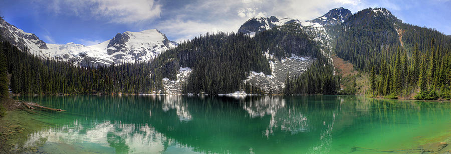 Joffre Photograph - Joffre Lake Middle Panorama B.c Canada by Pierre Leclerc Photography