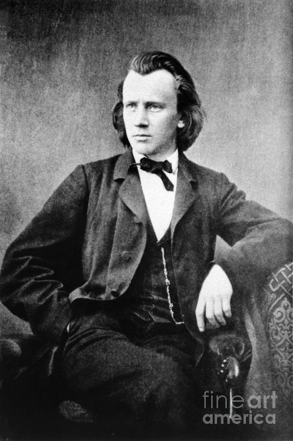 History Photograph - Johannes Brahms, German Composer by Omikron