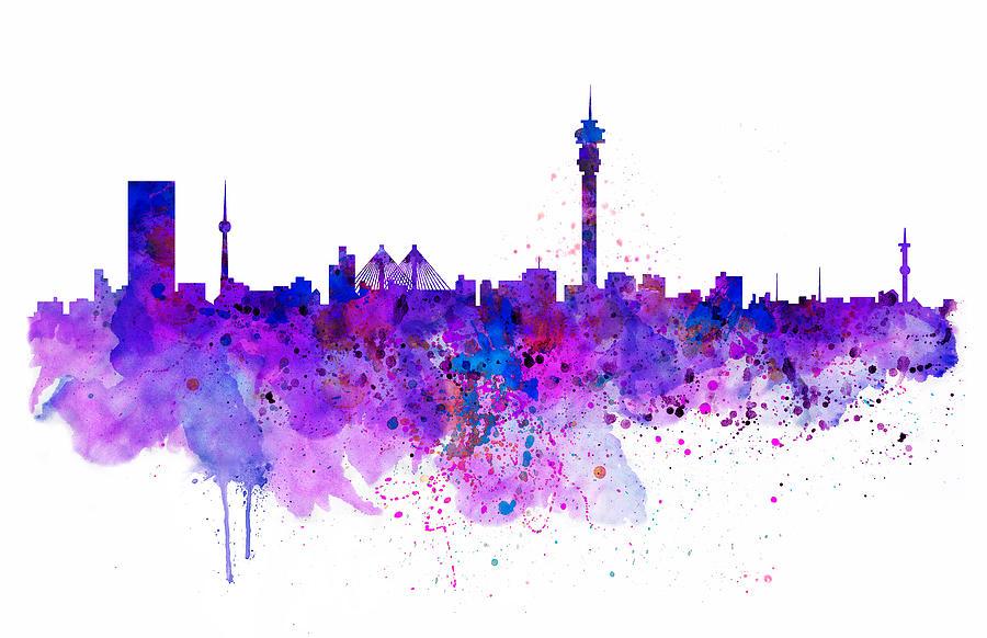 Johannesburg skyline mixed media by marian voicu johannesburg mixed media johannesburg skyline by marian voicu altavistaventures Images
