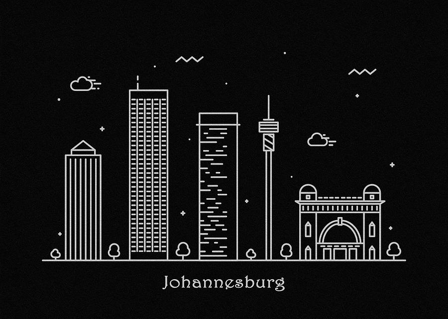 Johannesburg skyline travel poster drawing by inspirowl design johannesburg drawing johannesburg skyline travel poster by inspirowl design thecheapjerseys Images