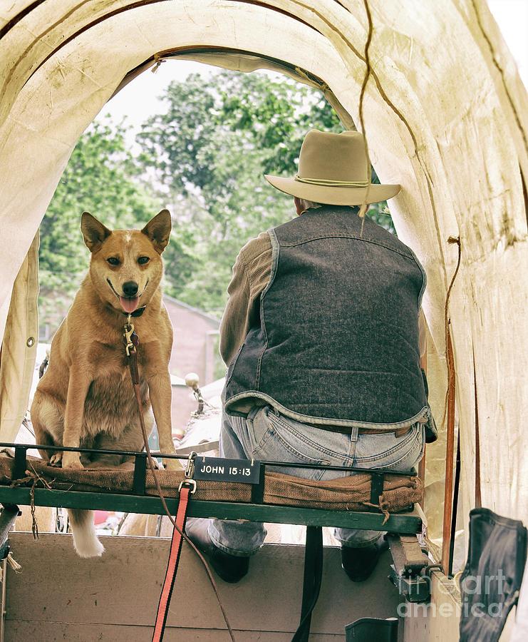 Cowboy Photograph - John 1513 And His Dog  by Steven Digman