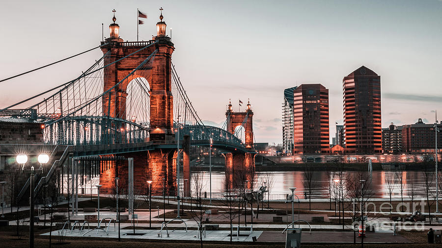 John A. Roebling Suspension Bridge by Jason Finkelstein