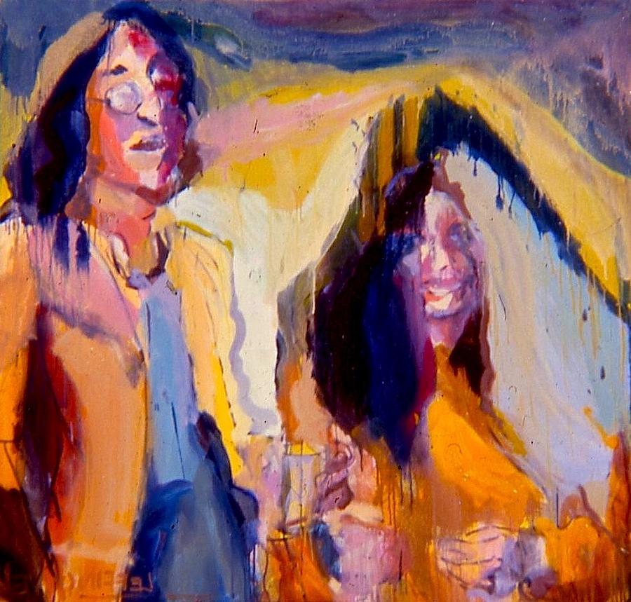 John Lennon Painting - John And Yoko by Les Leffingwell