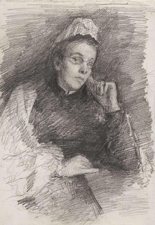 John Butler Yeats 1839-1922 Mrs John Butler Yeats Painting