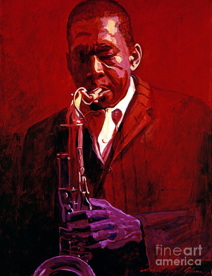 John Coltrane Painting - John Coltrane by David Lloyd Glover