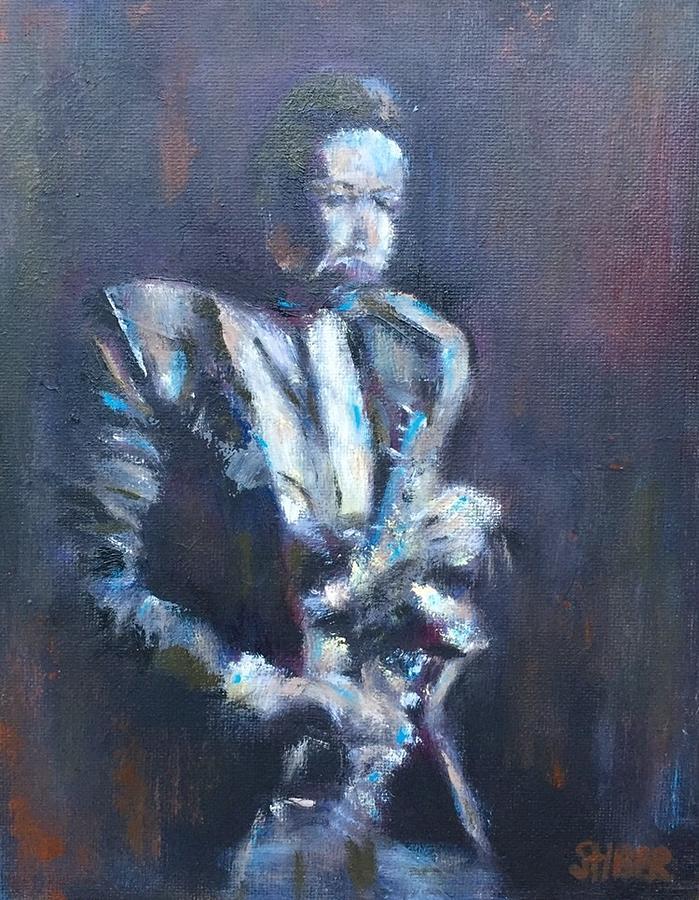 John Coltrane Painting - John Coltrane by Kathy Stiber