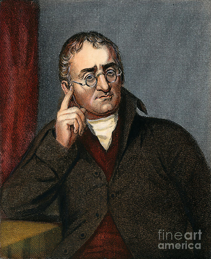 19th Century Drawing - John Dalton - To License For Professional Use Visit Granger.com by Granger
