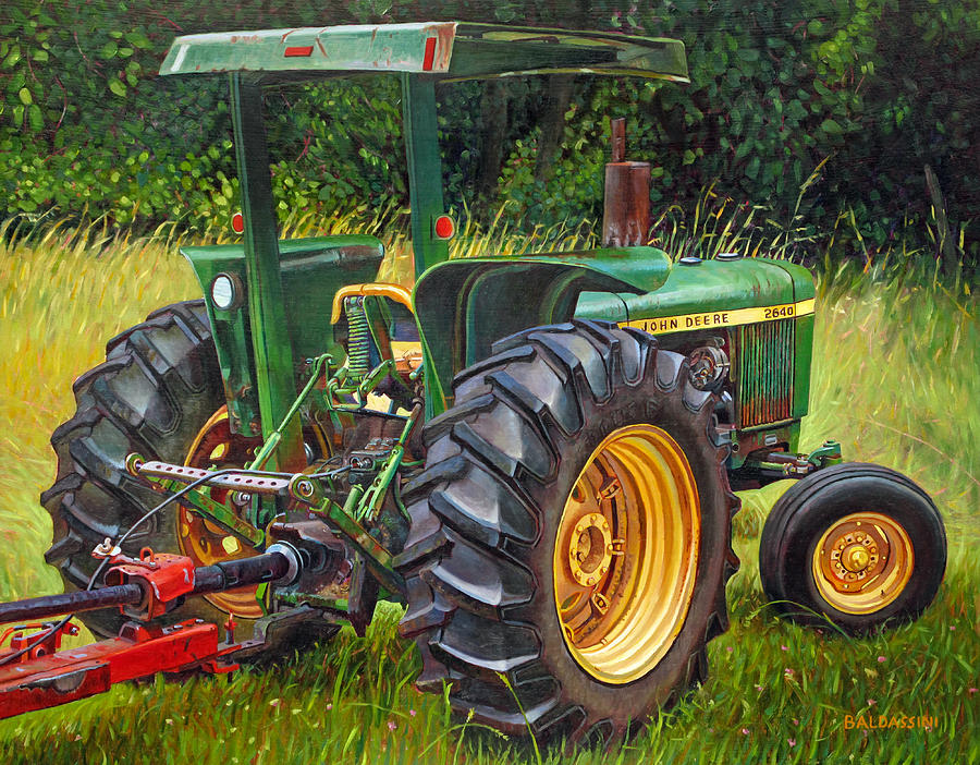 Girly John Deere Paintings : John deere painting by paul baldassini