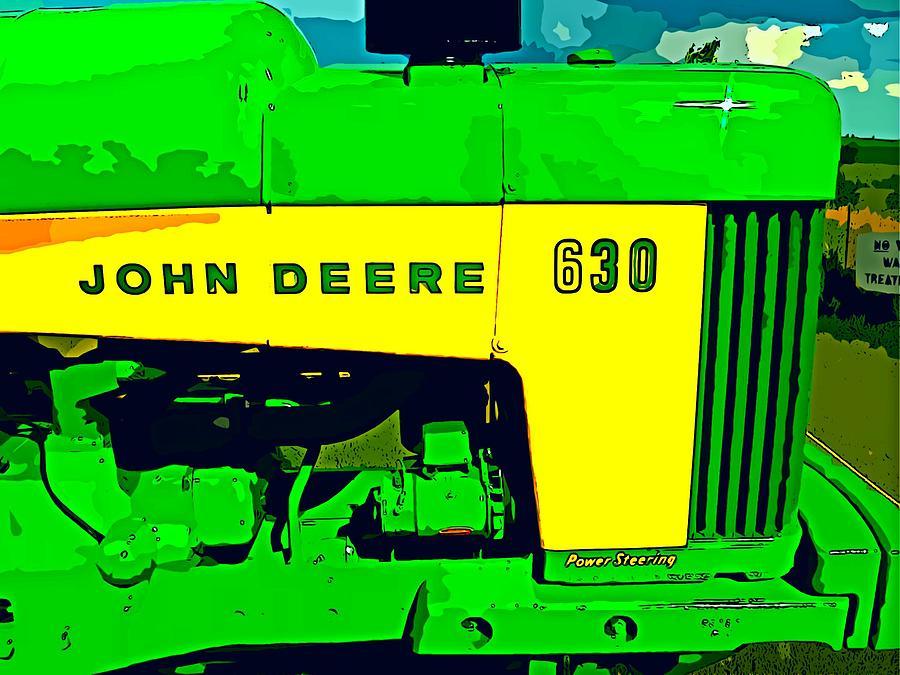 Farming Photograph - John Deere 630 by John Gerstner