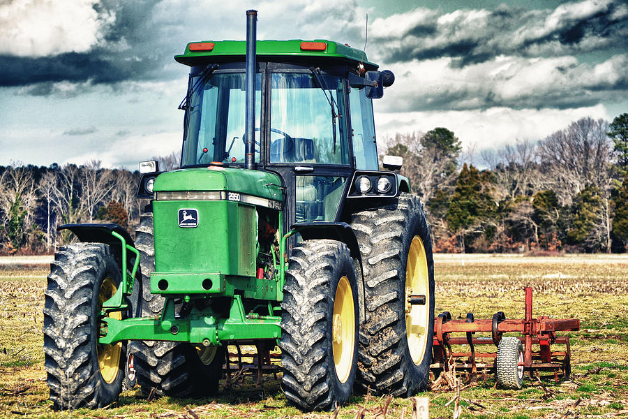 Tractor Photograph - John Deere by Kelly Reber