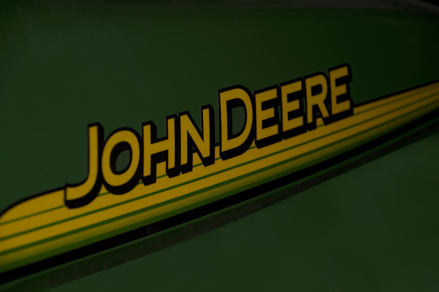Deere Photograph - John Deere Signage Decal by Thomas Woolworth